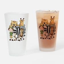 Girl on Safari Pint Glass