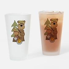 Bears Toasting Marshmallows Pint Glass