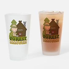 Male Forest Ranger Pint Glass