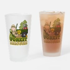 Female Forest Ranger Pint Glass