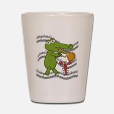 Crocodile With Trumpet Shot Glass