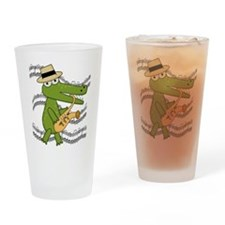 Crocodile With Saxophone Pint Glass
