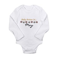 Baby Arrives in May Long Sleeve Infant Bodysuit