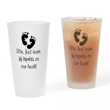 Baby Footprints Pint Glass
