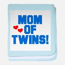 Cute Mom twins baby blanket