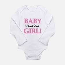 Baby Girl Proud Dad Long Sleeve Infant Bodysuit