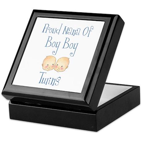 Proud Nana of Boy Twins Keepsake Box