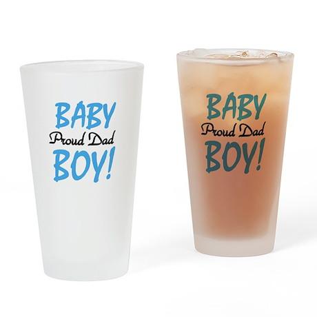Baby Boy Proud Dad Pint Glass