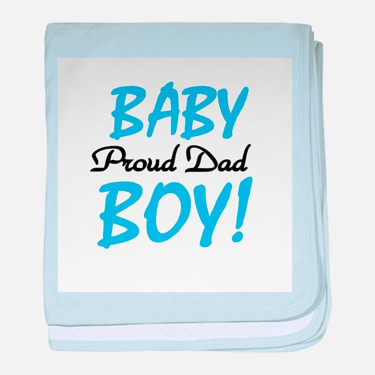 Baby Boy Proud Dad baby blanket
