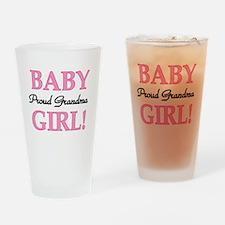 Baby Girl Proud Grandma Pint Glass