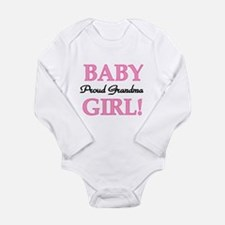 Baby Girl Proud Grandma Long Sleeve Infant Bodysui