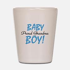 Baby Boy Proud Grandma Shot Glass