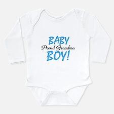 Baby Boy Proud Grandma Long Sleeve Infant Bodysuit