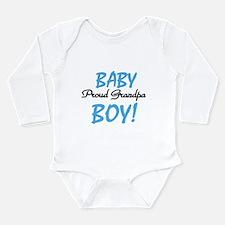 Baby Boy Proud Grandpa Long Sleeve Infant Bodysuit