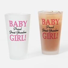 Baby Girl Great Grandma Pint Glass