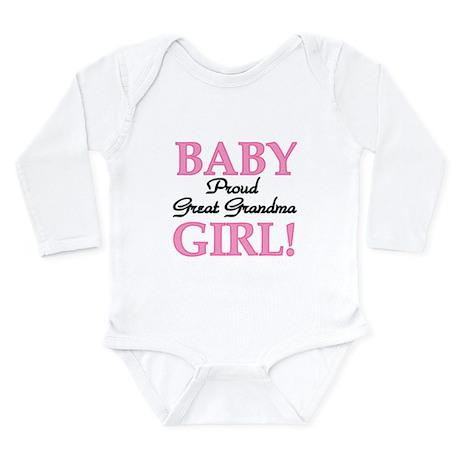 Baby Girl Great Grandma Long Sleeve Infant Bodysui