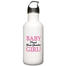Baby Girl Great Grandma Water Bottle