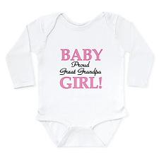 Baby Girl Great Grandpa Long Sleeve Infant Bodysui