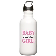 Baby Girl Proud Aunt Water Bottle