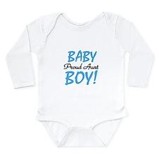 Baby Boy Proud Aunt Long Sleeve Infant Bodysuit