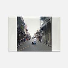 French Quarter Musician Rectangle Magnet