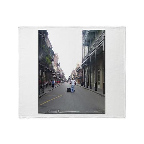 French Quarter Musician Throw Blanket