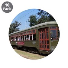 "New Orleans Streetcar 3.5"" Button (10 pack)"