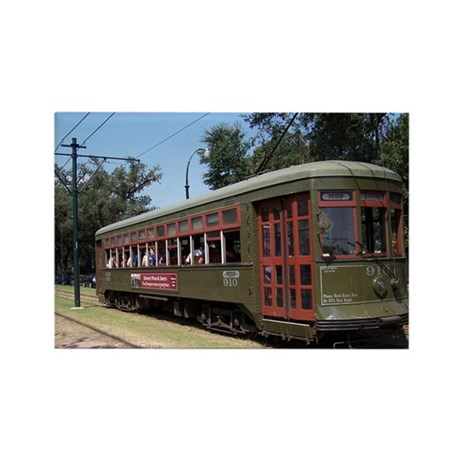 New Orleans Streetcar Rectangle Magnet