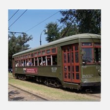 New Orleans Streetcar Tile Coaster