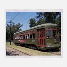 New Orleans Streetcar Throw Blanket