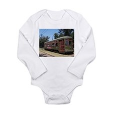 New Orleans Streetcar Long Sleeve Infant Bodysuit