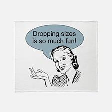 Dropping Sizes Throw Blanket