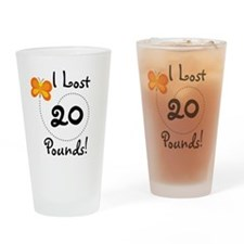 I Lost 20 Pounds Pint Glass