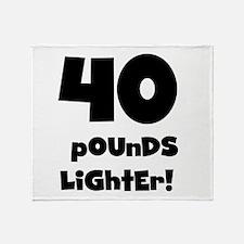 40 Pounds Lighter Throw Blanket