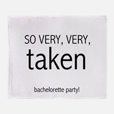 Bachelorette Very Taken Throw Blanket