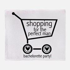 Bachelorette Shopping Throw Blanket