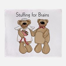 Stuffing for Brains Throw Blanket