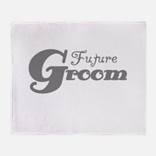 Future Groom Gray Throw Blanket