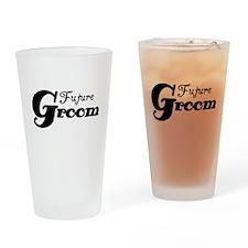 Future Groom Black Pint Glass