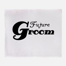 Future Groom Black Throw Blanket