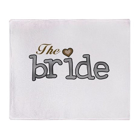 Silver and Gold Bride Throw Blanket