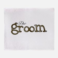 Silver and Gold Groom Throw Blanket