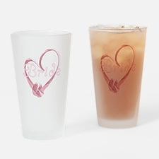Pink Heart Bride Pint Glass