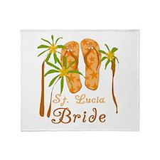 St. Lucia Bride Throw Blanket