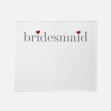Cute Bridesmaid Throw Blanket