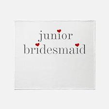 Cute Junior bridesmaid Throw Blanket