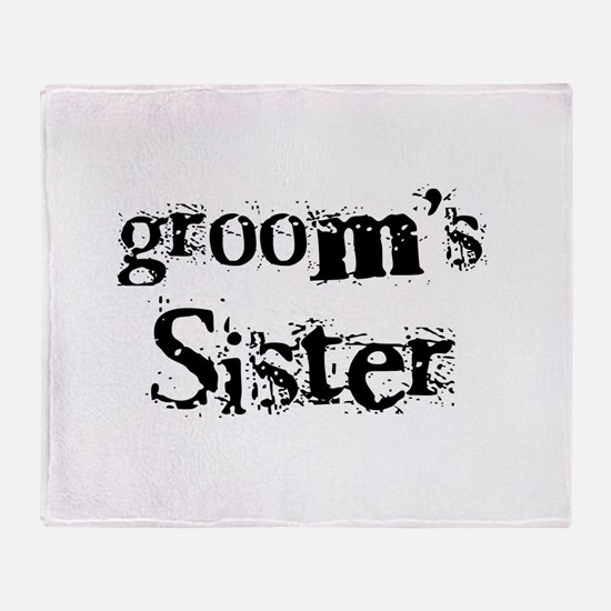 Groom's Sister Throw Blanket