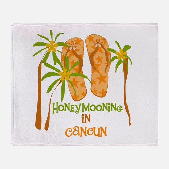 Honeymoon Cancun Throw Blanket