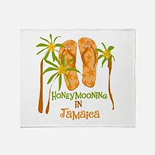 Honeymoon Jamaica Throw Blanket