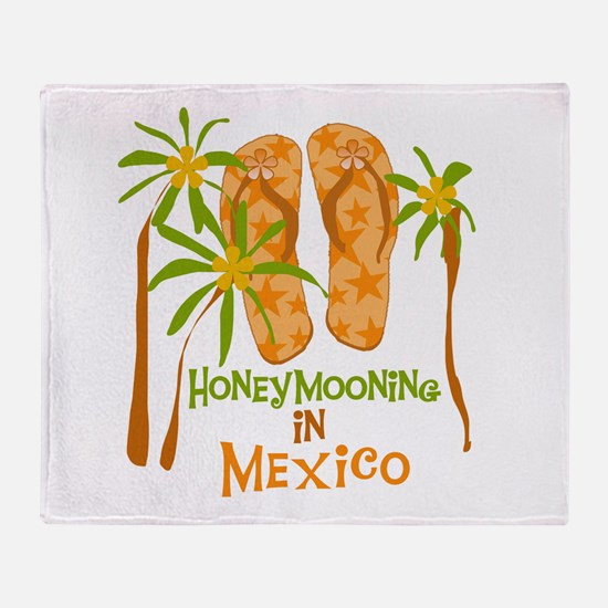 Honeymoon Mexico Throw Blanket